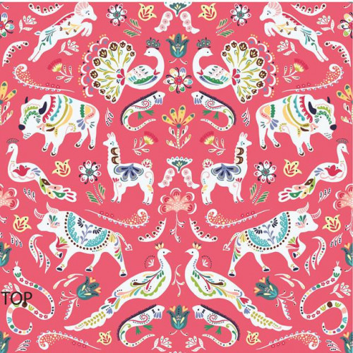 Pk 12 1.5M MEXICANA PARTY GIFT WRAP