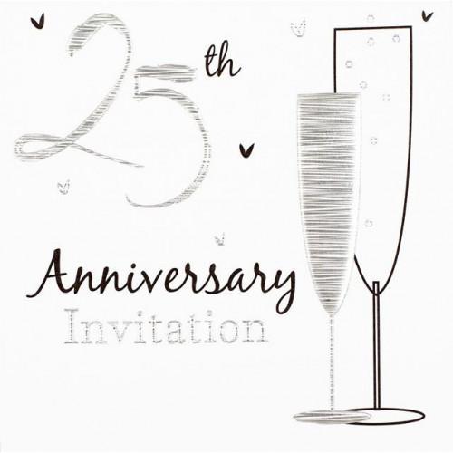 Silver Anniversary Invitations