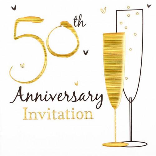 Golden Wedding Invitations