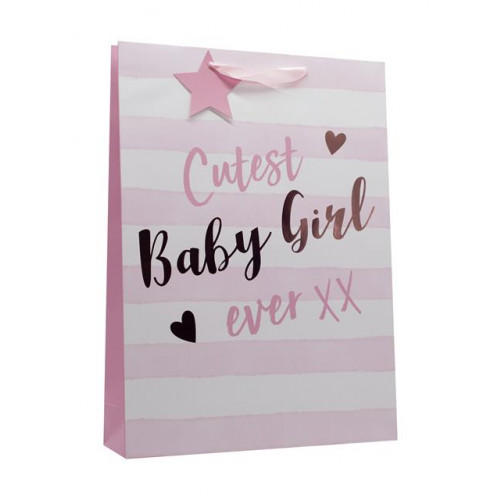 Gift Bags Extra Large  Baby Girl  Rose Gold Foil