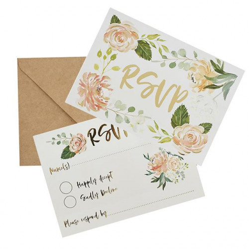 Rsvp & Envelopes Pack Of 25