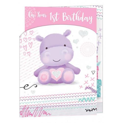 PK6 C50 CARDS Age 1 Girl 3 FOLD
