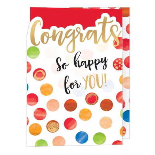 PK6 C50 - 3-Fold Cards Congrats CONTEMP