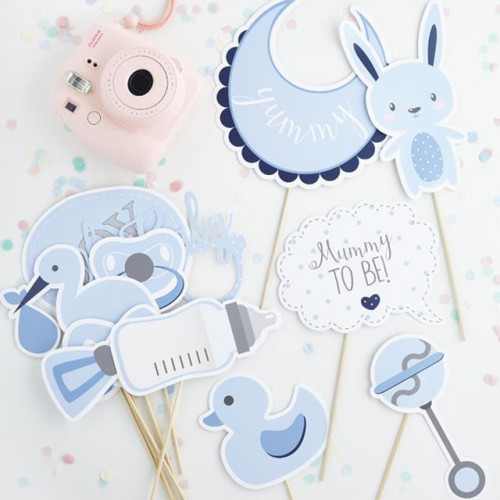 OH BABY PHOTO BOOTH PROPS BLUE