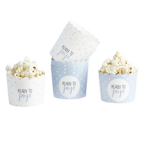 OH BABY PAPER CUPS 2 ASSORTED BLUE SPOT DESIGNS - D: 61MM X H:75MM