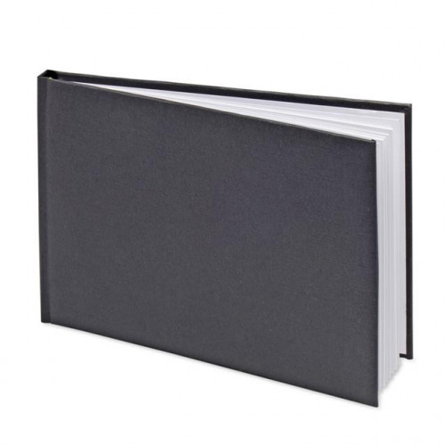 GUEST BOOK IN PVC BOX 245 X 170MM BLACK