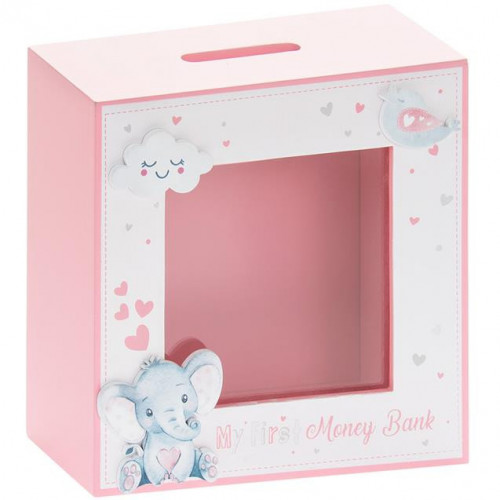 Bird & Ellie Money Box Pink
