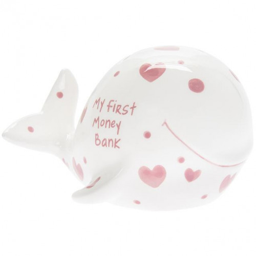 My 1st Money Bank Whale Pink L