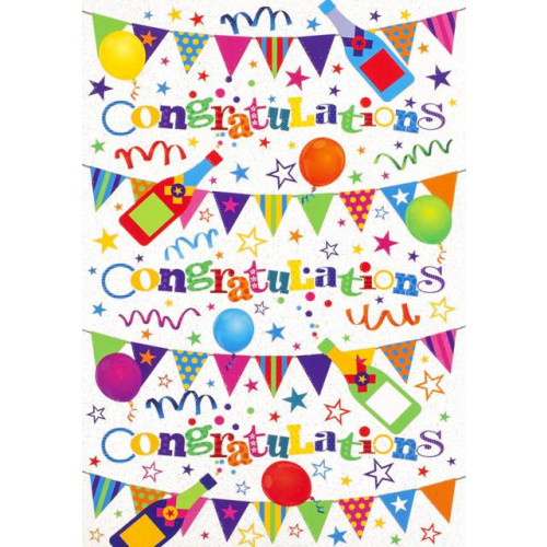 PK6 C50 CARDS CONGRATULATIONS ESSENTIALS NETT