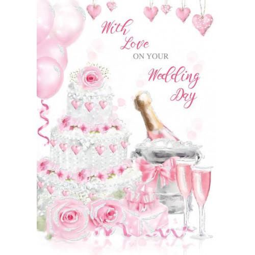 PK6 WEDDING DAY WEDDING  TRAD C50 CARDS  ,NETT (179)