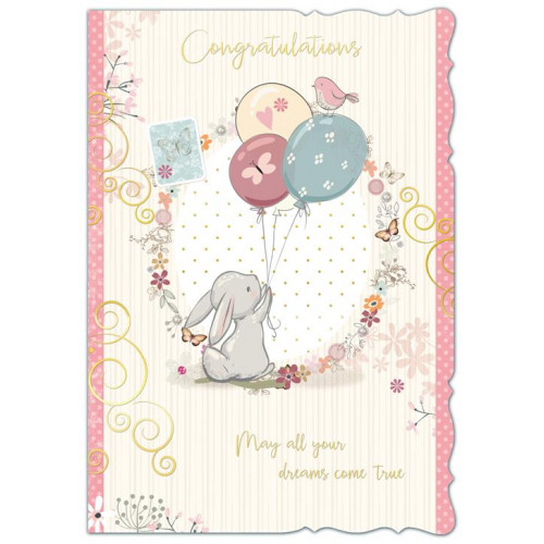 PK6 CONGRATULATIONS FEMALE CUTE C50 CARDS  ,NETT (284)