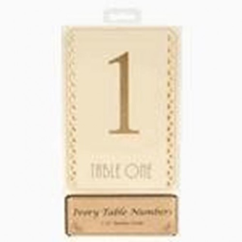 Table Numbers Gold On Ivory