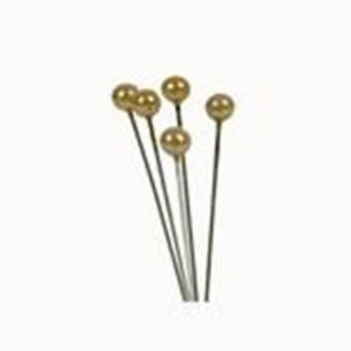 4Cm Rnd Headed Gold Pearl Pins