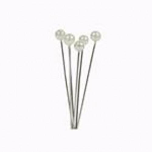 4Cm Rnd Headed Ivory Pearl Pins