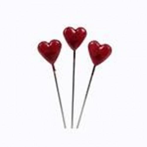 5Cm Heart Head Pins Redx80