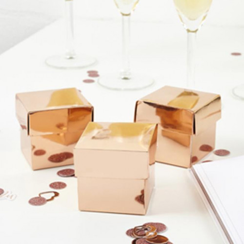 ROSE GOLD SQUARE BOX WITH LID