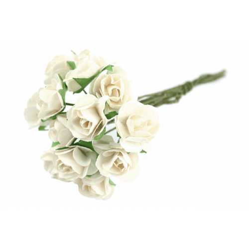 Paper Tea Rose Bunches Cream