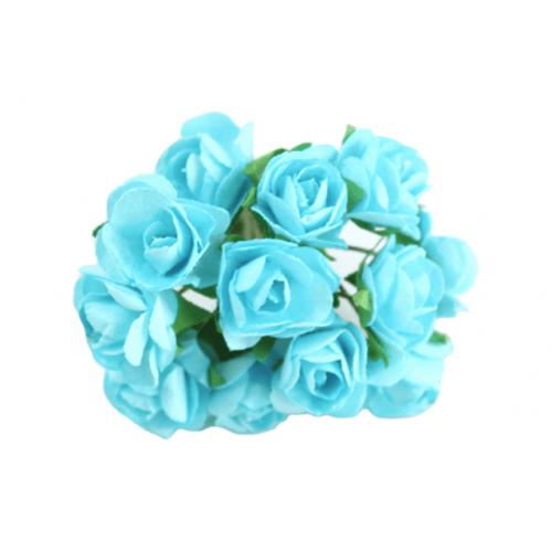 Paper Tea Rose Turquoise