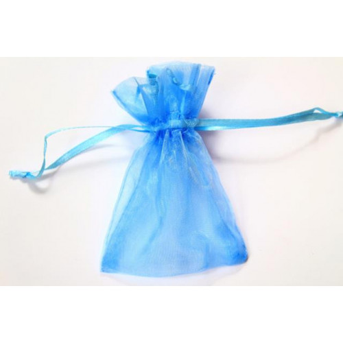 Small Organza Favour Bags Blue
