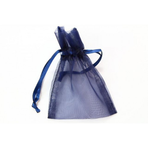 Small Organza Favour Bag Navy