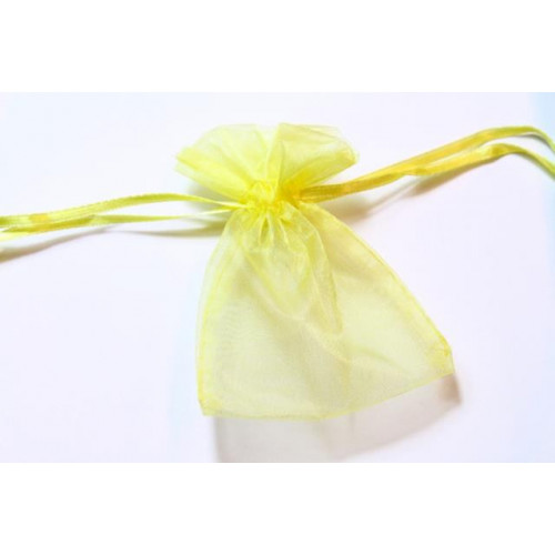 Small Organza Favour Bag Yellow