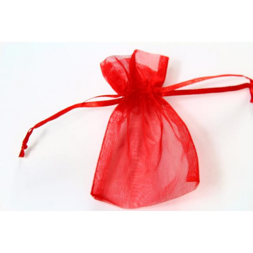X Large Organza Favour Bag Red