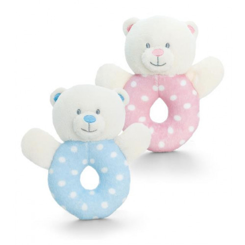 12Cm Baby Bear Ring Rattle