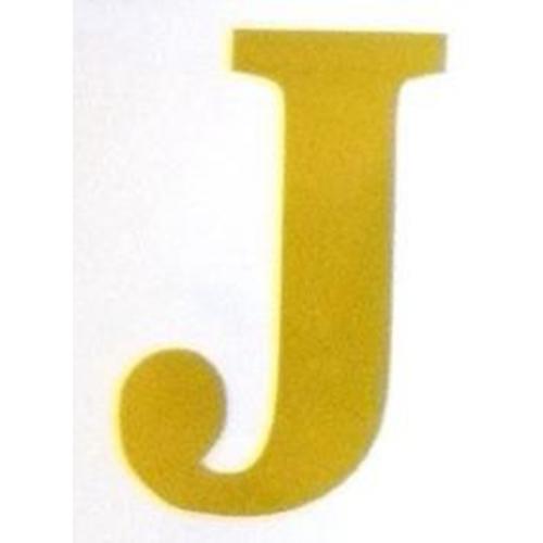 Self Adhesive Vinyl Gold Letters J