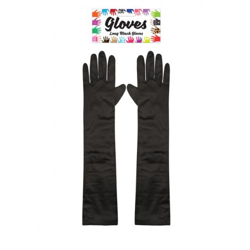 GLOVES LONG 45CM BLACK ADULT
