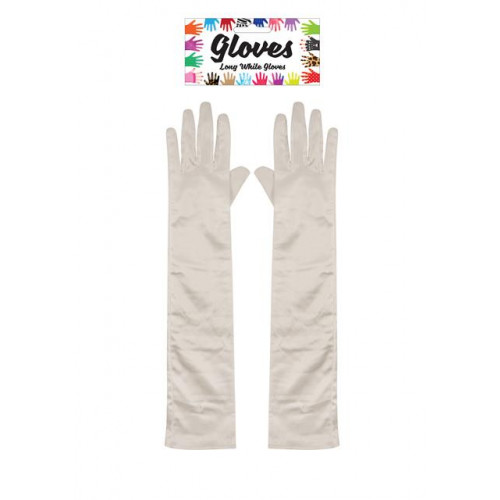 GLOVES LONG 45CM WHITE ADULT