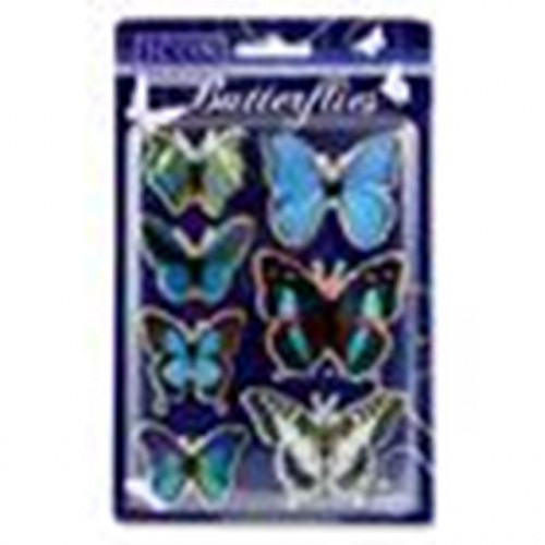 Blue butterfly embelishment