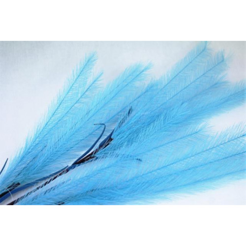 Artificial Feather Spray Dark Blue