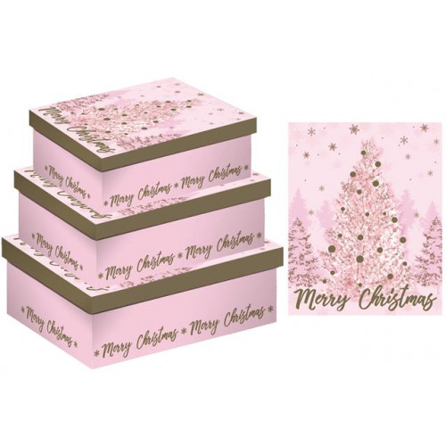 3PC SHIRT BOX PINK TREES