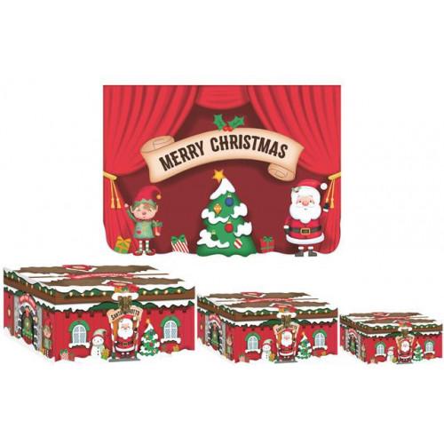 3pc Fl/Lid Box Santa Grotto
