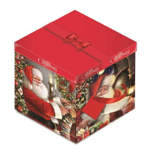 Sq Flat Box Santa pck 6