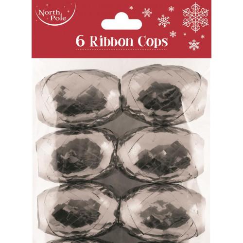 6PK RIBBON COPS SILVER PCK 12