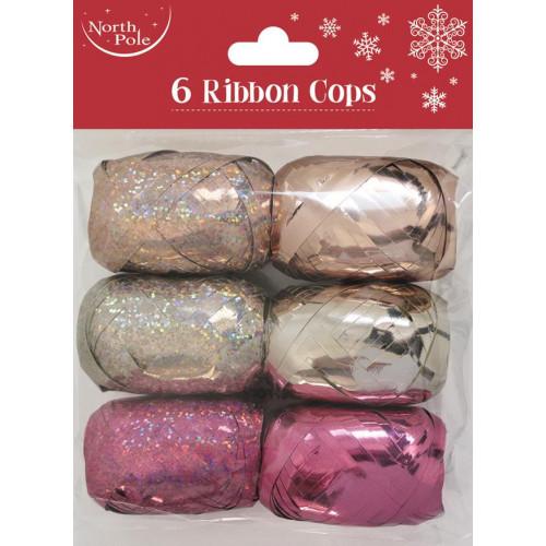 6PK RIBBON COPS FASHION PCK 12