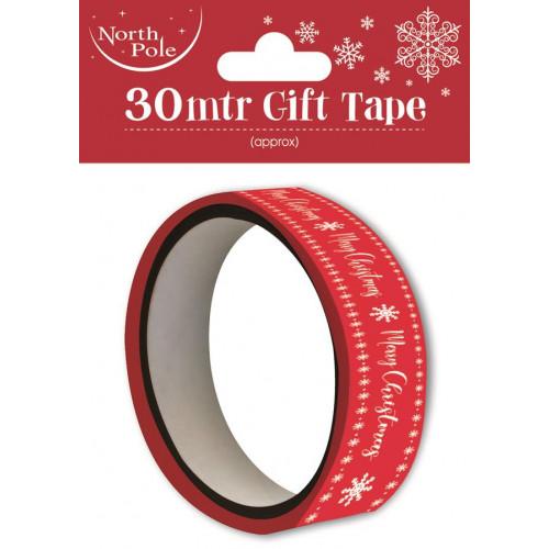30M Printed Gift Tape Pk12