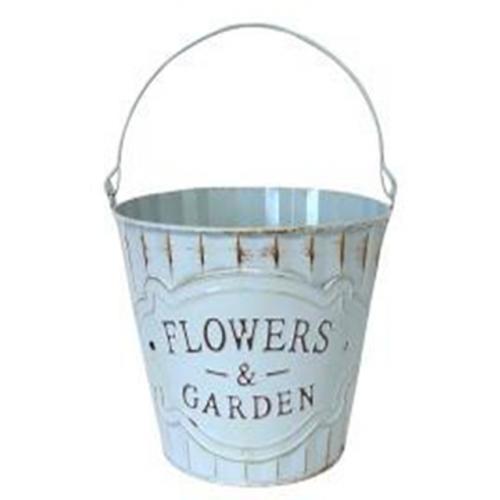 14.5Cm Flowers & Garden Zinc Bucket