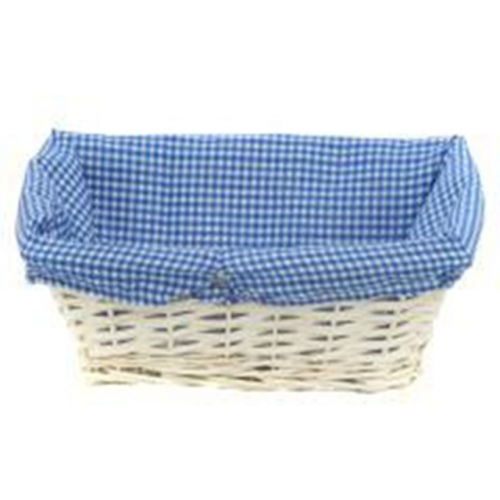 51Cm Blue Gingham Cotton Tray