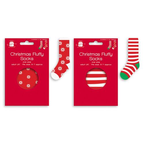 Ss, Christmas Fluffy Socks Adult