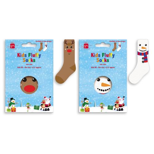 Ss, Christmas Fluffy Socks Kids