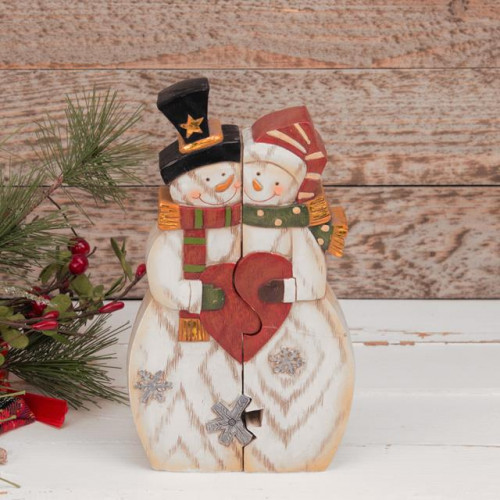 MR & MRS SNOWMAN DUAL FIGURINE
