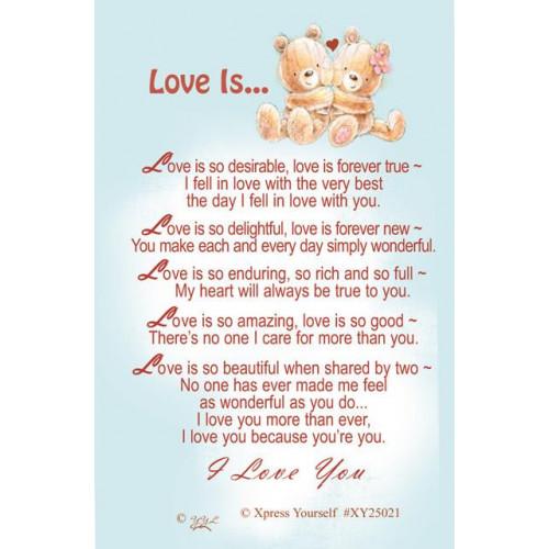 W/CARD LOVE IS ,NETT