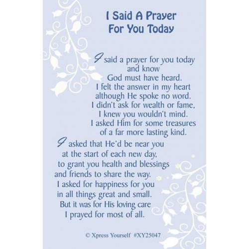 I Said A Prayer C25 Pk6