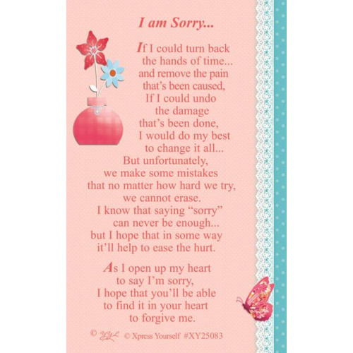 W/CARD I AM SORRY ,NETT