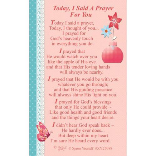Today I Said A Prayer C25 Pk6