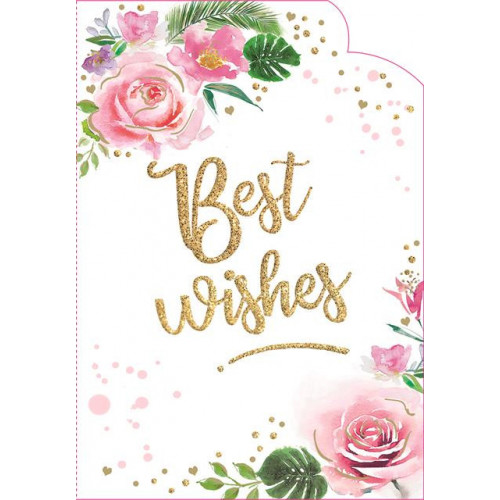 PK6 LOVE & WISHES - BEST WISHES - C50 CARDS  ,NETT