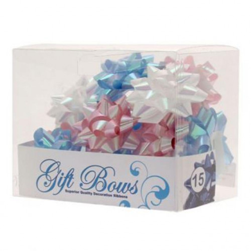 IRIDESCENT BLUE / WHITE / PINK GALAXY BOWS