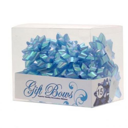 IRIDESCENT BLUE GALAXY BOWS